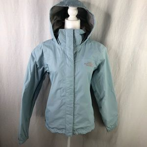 The North Face Womens Light Blue HyVent M Jacket
